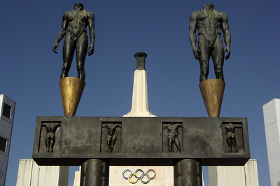 Headless statues from the 1984 Olympics