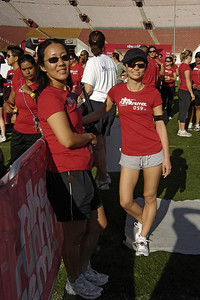 Lori and Valerie on the field