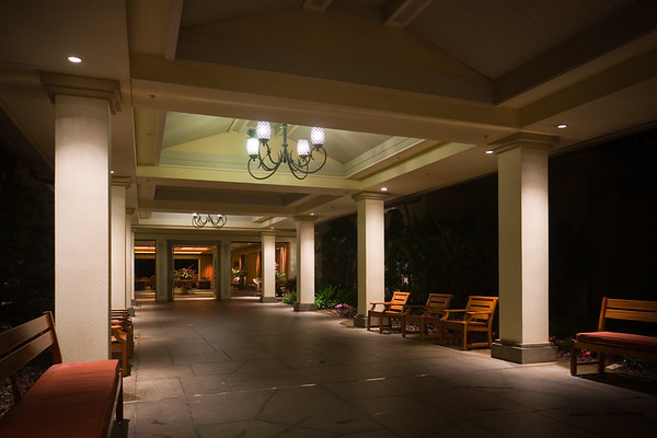 At 4:45am, I wait in front of the hotel's lobby to be picked up for an event I had no idea I would be participating in until the night before I arrived on Maui