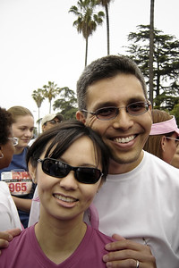 Valerie and I are ready to run... (photo by Raquel)