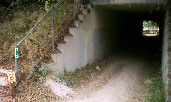 The tunnel under Hawthorne is part of the course
