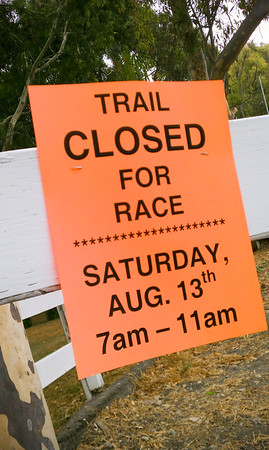 Trail closed for race