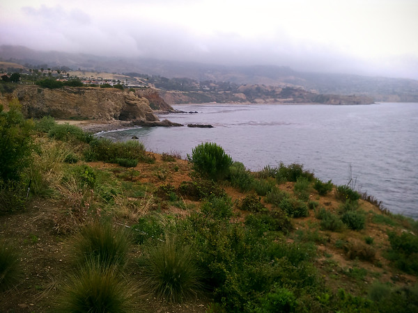 View south towards Abalone Cove and Portuguese Bend