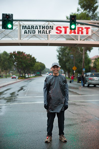 I cannot believe I will soon be running a half marathon in the rain (Photo by Valerie)