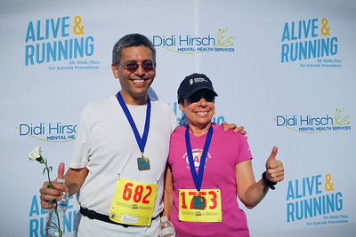 Eric and Rosalind, winners of their respective age groups (first time I have ever done that)
