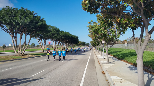 After the runners finish, we head back on to the course to meet up with the walkers