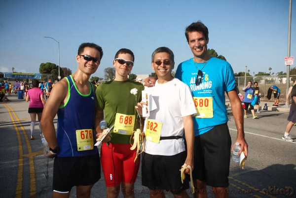 Pete, Ryan, me, Christian after the run