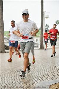 Running down the boardwalk