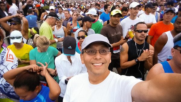 Yes, this IS a big event.  Apparently, I am among 15,000 runners who registered for the half marathon.  I expect it will take some time for the last wave to cross the starting line.
