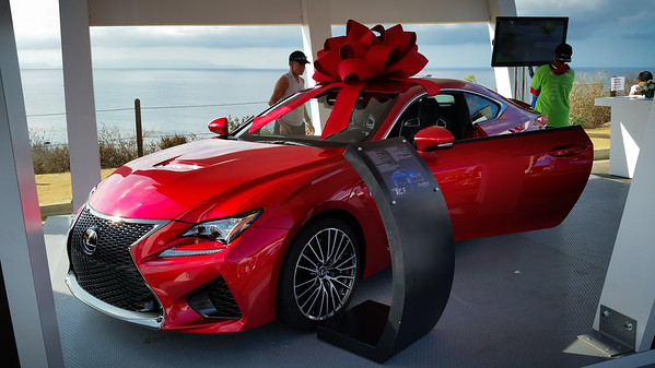 According to the lady presenting the Lexus RC-F, this is its first appearance at any event