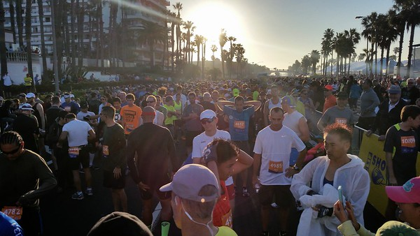 A lot more people run the half than the full.  Over 20,000 runners are registered for this race!