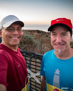 This is Erik and my first race together...but I know I won't be able to keep up.  We reconnected after last year's Hills Are Alive 10K, a run I did not participate in.