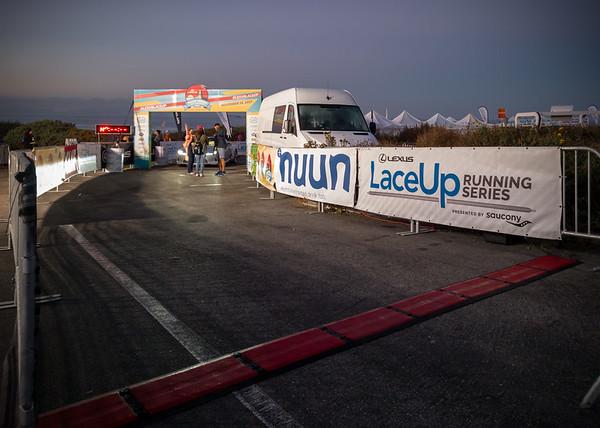 Start - Finish line for the half marathon