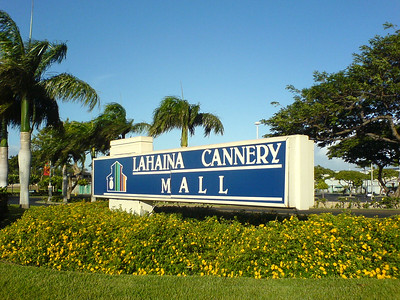 I head back to Ka'anapali via a slightly inland route that takes me by the other side of the Lahaina Cannery Mall