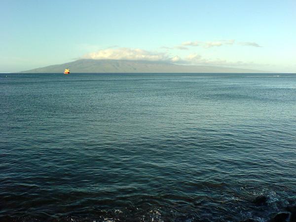 Lahaina's view of Lanai