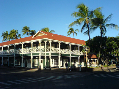 I pass the Pioneer Inn, oldest hotel in Lahaina