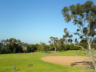 THREE WEEKS TO GO - I decide to attempt a 13 mile run today...taking the high road (Hawthorne) over the Peninsula.  I take a short break at Robert E Ryan Community Park to eat some Clif Shot Blocks and drink some water
