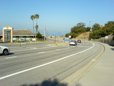 I approach the intersection of Hawthorne Blvd and Palos Verdes Drive West.   I never thought I would run down this hill.  Of course, I never thought I would be attempting the Palos Verdes Half Marathon either