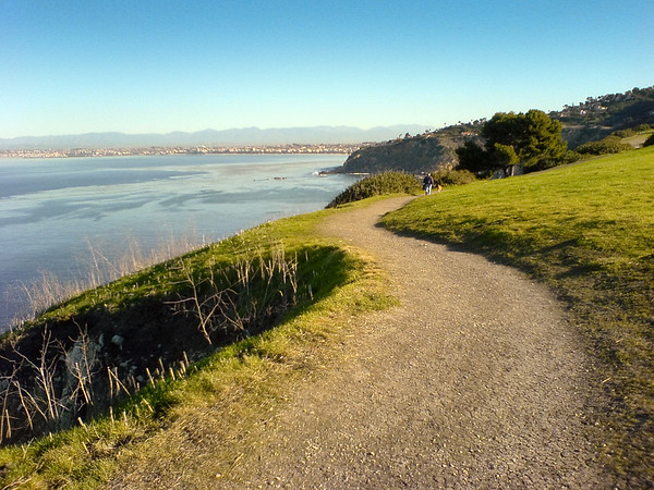 JANUARY - A beatiful morning running in Palos Verdes on cliffs overlooking the Pacific Ocean