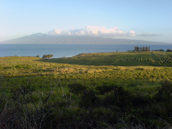 Rolling fields and waves between me and Molokai