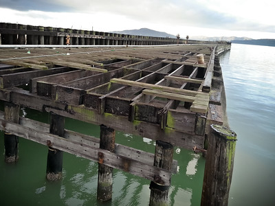 Decaying structures of the former ferry terminal