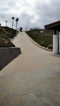 Not a fun ramp to run up or down (Facebook)