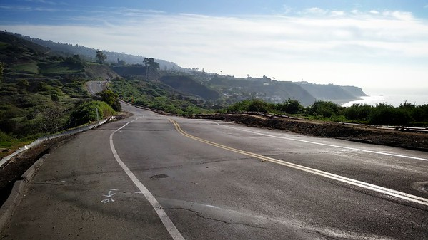 The ever shifting stretch of Palos Verdes Drive South through Portuguese Bend