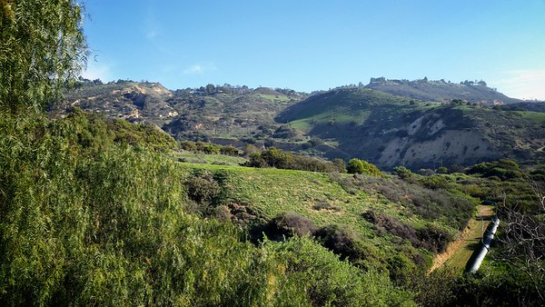 Portuguese Bend Nature Preserve, my destination, is to my left...now to find the  trailhead to go inside