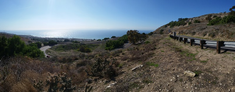 Catalina Island on the horizon