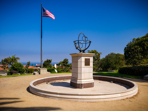 Funny, I never noticed the sundial or the American flag in the Palos Verdes Memorial Garden before today