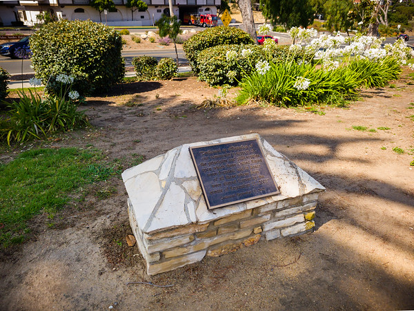 Another plaque dedicated to the events of September 11, 2001...note that this park is across from the Palos Verdes Estates Police Department, Fire Department, and City Hall