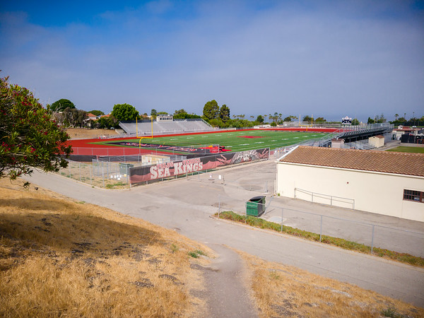 I have not seen Palos Verdes High School's track since high school...when I actually ran ON its track during a meet