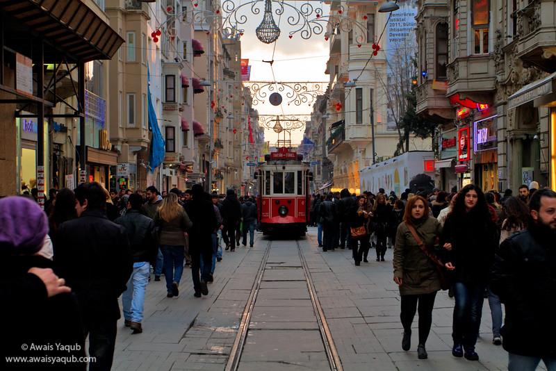 Istiklal street in takseem Istanbul