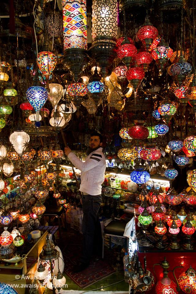 Colorful shop somewhere inside Grand Bazaar