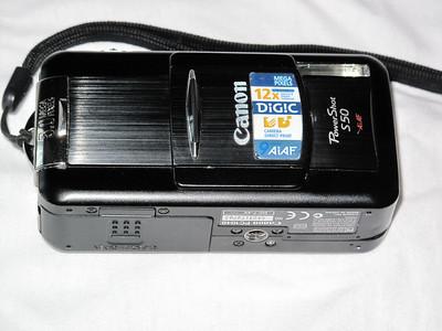 Canon S50 - Önden