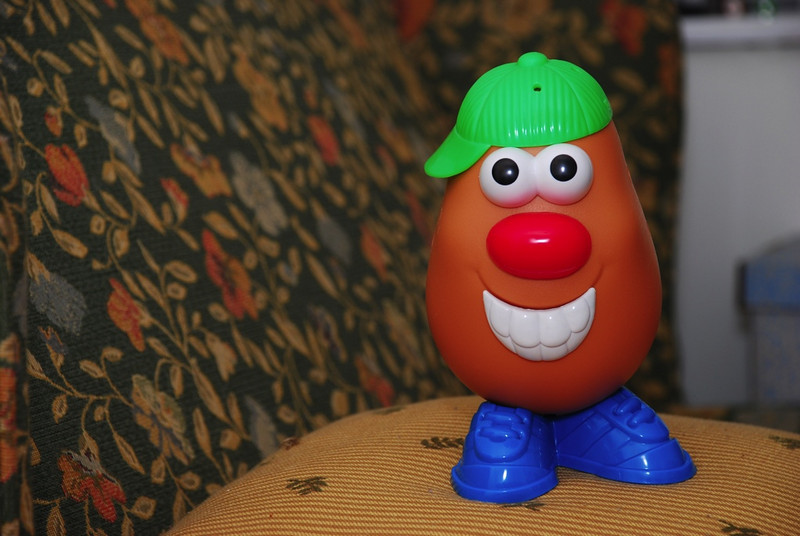 Mr. Potato Head, a willing test subject.