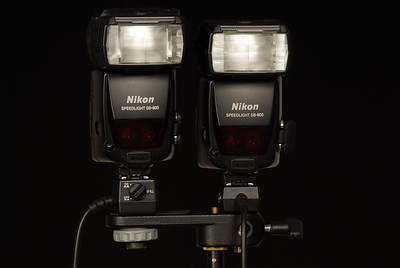 Twin Pack SB-800 to provide more power and coverage versus a simple SB-800.  Improves recycle time as well since both SB-800 will worked at 50% power versus only one at 100%