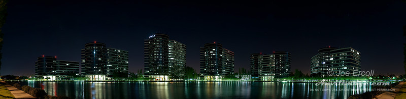 180 degree panoramic shot of Oracle in Redwood Shores, CA