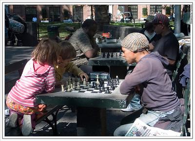 Chess Lesson.  Washington Park.  New York City