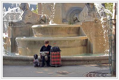 Blvd St Michel Fountain, Paris