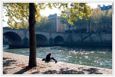 Left Bank River Seine, Paris