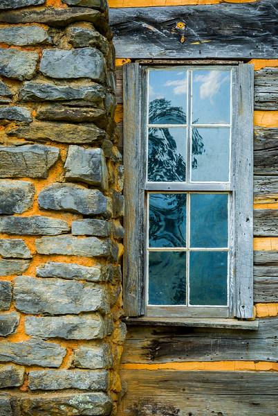 """Log Cabin Chimney and Window"""