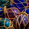 """Glass Globes in Twine"""