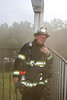 1st District Chief Bobby Hoff at live burn for new officer training,