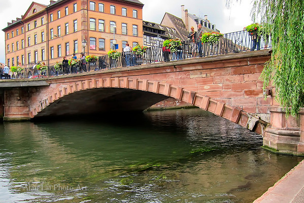 Strasbourg, France.  Strasbourg is famous for its many bridges.