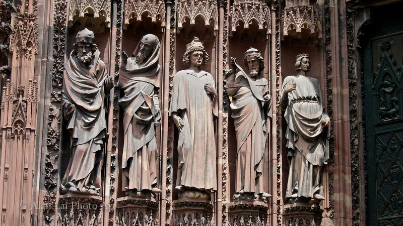 Strasbourg Cathedral, France - front entrance.  Magnificent, detailed sculpture and art.