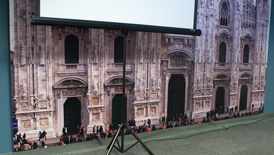 This is the bottom part of Chris MacAskill's panorama of the Duomo in Milan, Italy - a 12x12 foot print on the wall of the room where the Silicon Valley SMUG meets.