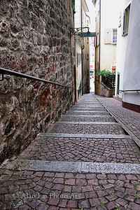 A narrow street in Basel
