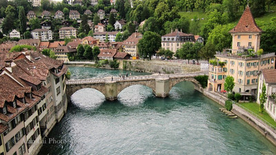 Bern, Switzerland.  One needs to be there to feel the serenity of this gorgeous town.
