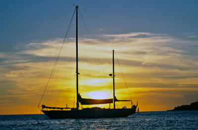 Cloud Nine, moored off Mololo Lailai, Mamanuca Islands. Fiji